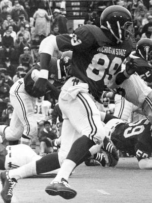 Billy Joe DuPree, a standout at MSU from 1970-72, is the last tight end to lead the Spartans in receiving.