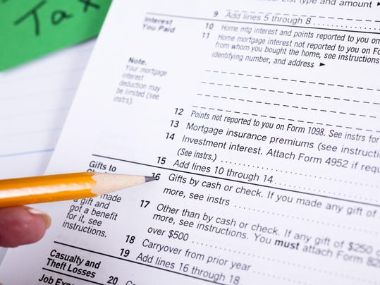 Income Taxes: Itemized deductions page tax forms. Gifts to Charity