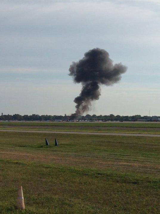 EAA plane crash photo