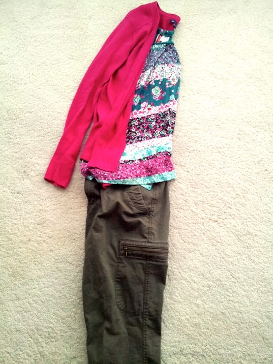 Pick bold colored sweaters and floral prints.