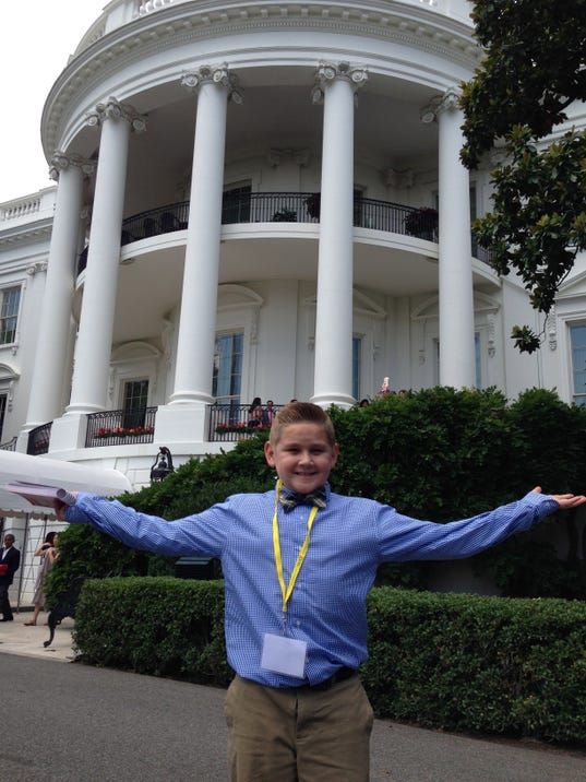 Cody Vasquez at the White House.
