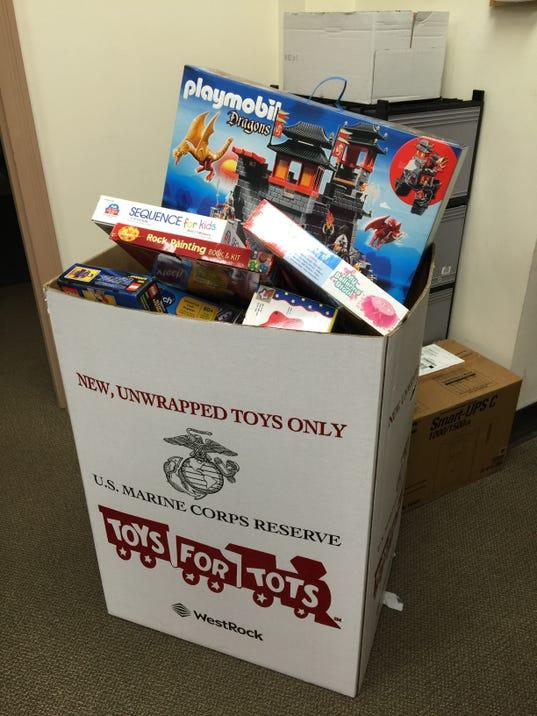 Toys For Tots Box : Glen ridge toy drives wraps up