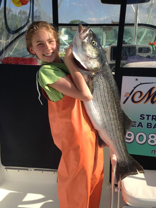 Bluefish striped bass anglers fishing for Miss barnegat light fishing report