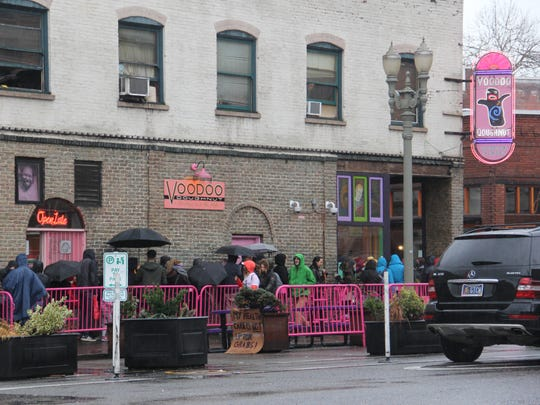 Voodoo Doughnuts accrues serious lines throughout the day on weekends.