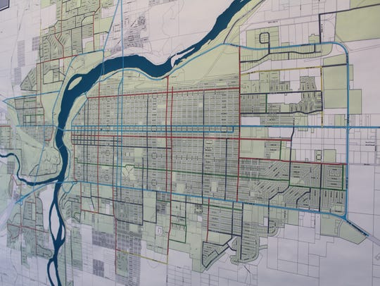 A Public Works Department map highlights the priority
