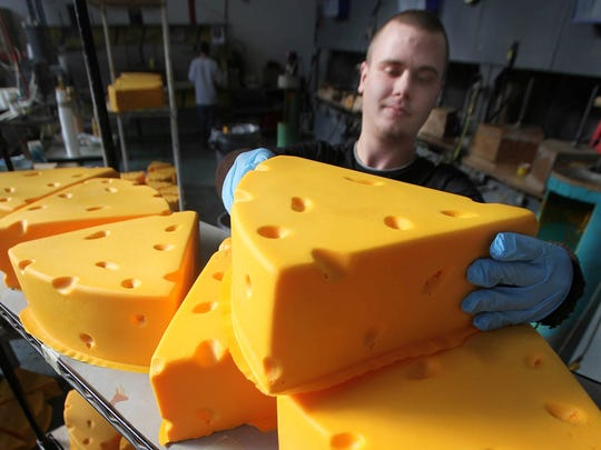 Cheesehead-brand foam hats are made by Foamation Inc., now in Milwaukee's Walker's Point.
