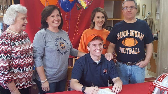 Hendersonville senior Drew Eudy has signed to play college football for Carson-Newman (Tenn.).