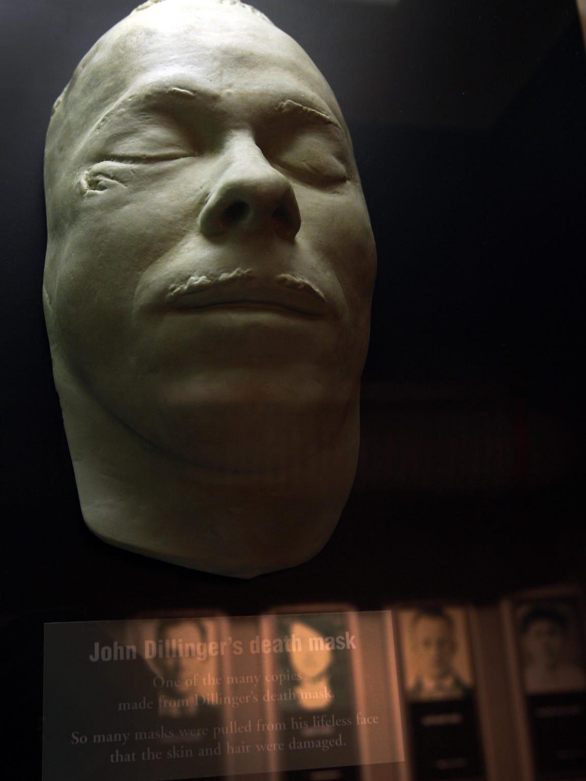 John Dillinger death mask.