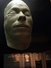 John Dillinger death mask.