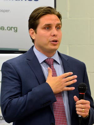 Kraig Bruder, candidate for the 92nd House during a debate hosted by the York County Economic Alliance, Tuesday April 19, 2016. John A. Pavoncello