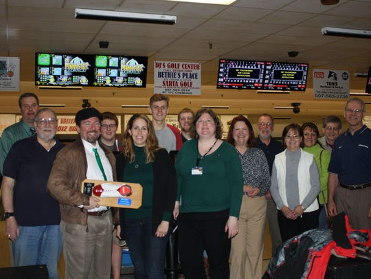Members of the Athens, Sayre and Waverly Rotary Clubs,