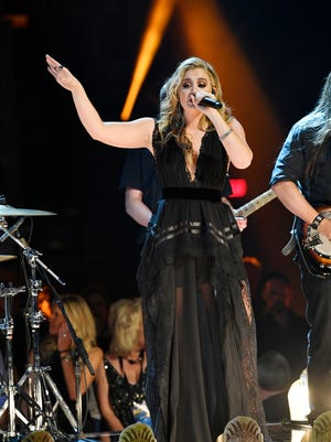 Lauren Alaina performs during the 53rd Academy of Country Music Awards at the MGM Grand Garden Arena Sunday, April 15, 2018, in Las Vegas.