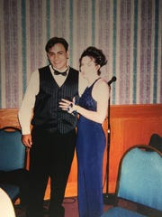 Shawn Hudson and Jody Parmann, Port Huron High School prom, 1998.