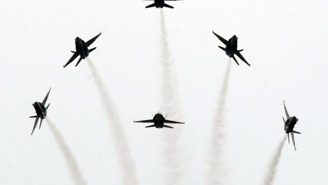 The U.S. Navy Blue Angels performed at Field of Flight in 2011.