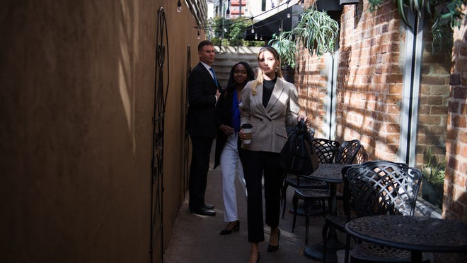 Ivanka Trump at Coffee Underground in downtown Greenville on Friday, Jan. 26, 2018.