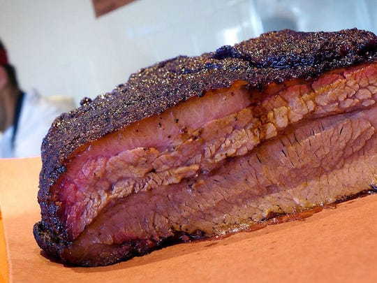 Texas-style BBQ brisket at Little Miss BBQ.