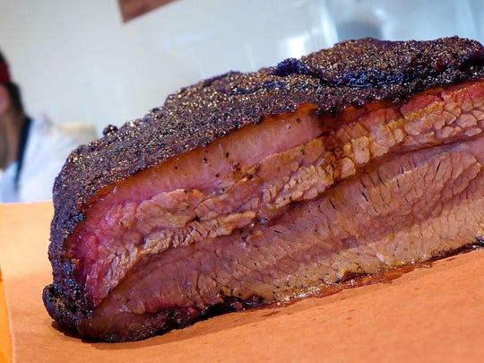 Texas-style BBQ brisket at Little Miss BBQ.