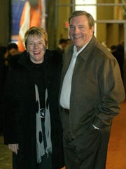 "Dee Margo, right, and his wife, Adair Margo, attended a private reception for the movie ""Glory Road"" at the Larry K. Durham Center Monday, Nov. 28."