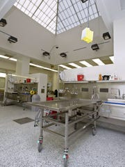 A skylight allows natural light into the Main Autopsy