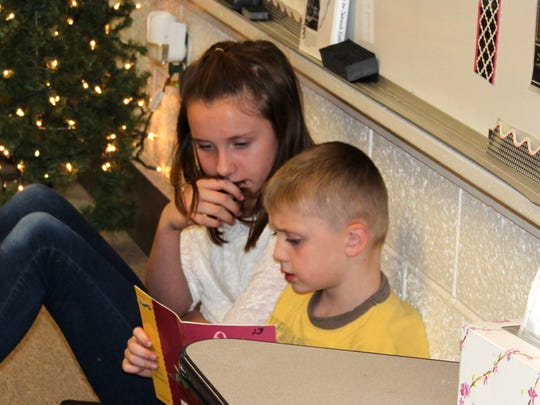 Students at Pate Elementary enjoyed a night of cookies and reading on Dec. 8.