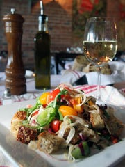 Panzanella Salad at Anjelica's in Sea Bright.