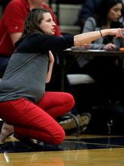 Hortonville coach Celeste Ratka, shown earlier this