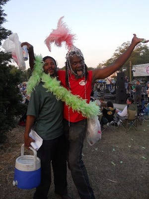 """Gregory """"Bootnanny"""" Woods, right, is pictured with Nathaniel Alexander in 2011."""