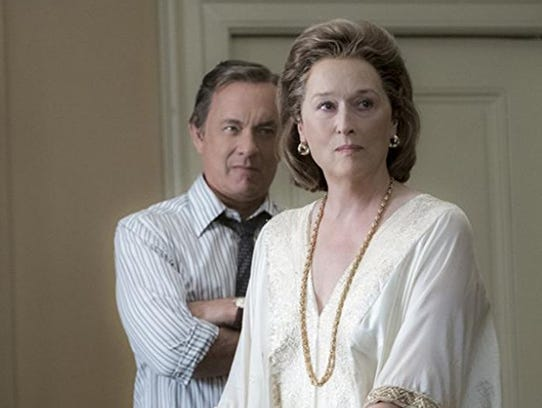 "Tom Hanks and Meryl Streep in ""The Post,"" directed"