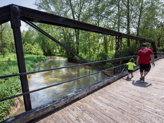 A re-purposed historic bridge that makes access possible