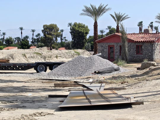 "Rancho Mirage Community Park has been undergoing a $6.5 million renovation since it closed in December. Improvements include the addition of an amphitheater, a larger playground and a grand ""promenade"" sidewalk to tie the site together."