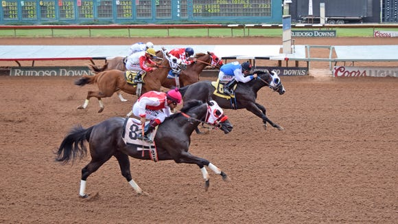 Born To B Bad won a stakes race Saturday in Ruidoso.