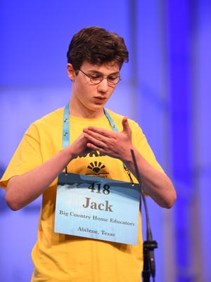 "Abilene's Jack Miller spelled the word ""anatomical"" correctly in round three May 30, 2018, of the preliminaries of the Scripps National Spelling Bee."