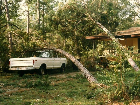 Damage from Hurricane Kate, which hit Tallahassee on