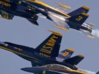Photos: Blue Angels Thursday air show