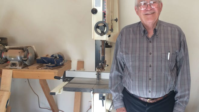 Kent Kirby created a space in his house he built for a woodworking space.