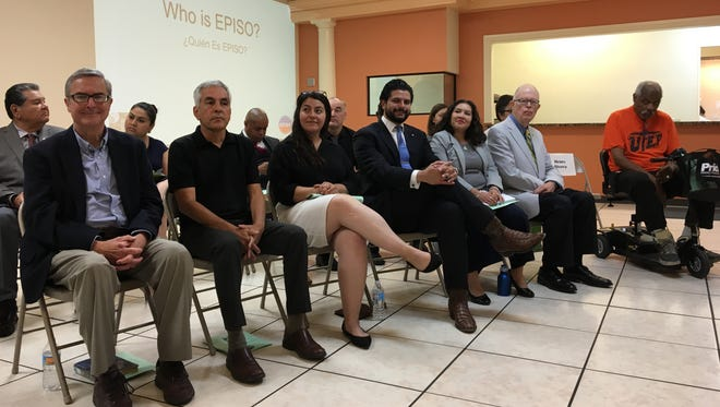 City of El Paso candidates wait for their turn to answer some quick questions at the EPISO and Border Interfaith event.