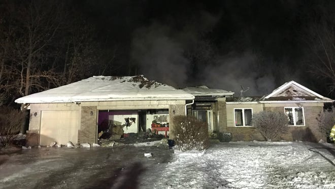 The home at 1510 Ridge Top Drive in rural Swisher was destroyed by a fire Monday, Jan. 1, 2018. A GoFundMe page has raised nearly $20,000 for the family.