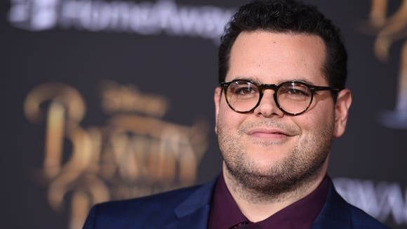 Josh Gad arrives at the world premiere of 'Beauty and
