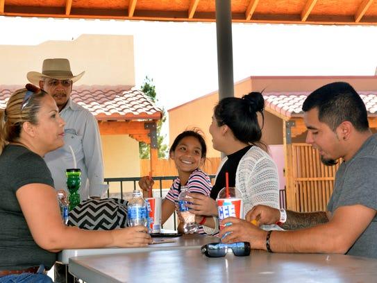 Three generations of the Chavaria family from El Paso,