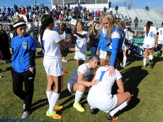 McQueen takes on Bishop Gorman during the NIAA Girl's