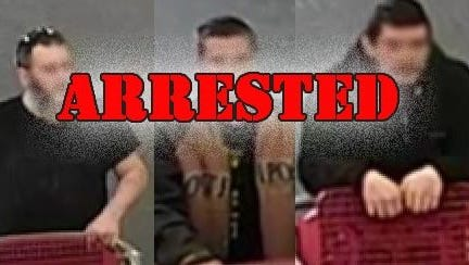 These three men were arrested in Marlton for shoplifting.