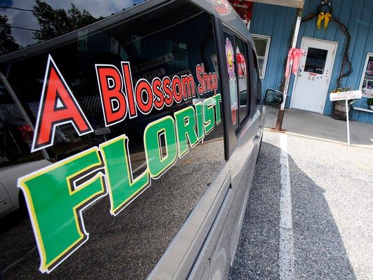 Exterior of A Blossom Shop on Route 9 in Berkeley.