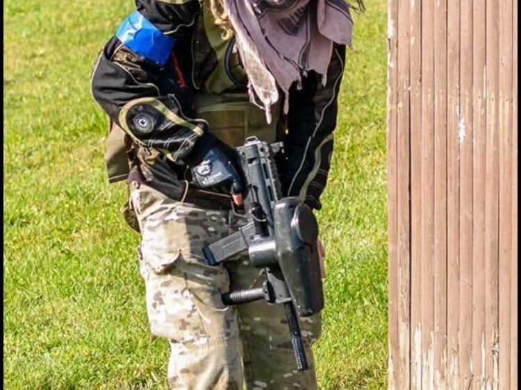 Khristiyana Dix of Jeddo during a local paintball game last year