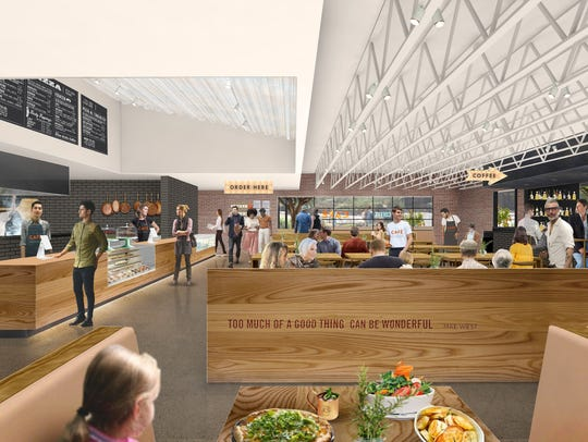 An interior rendering of the forthcoming Tempe Public