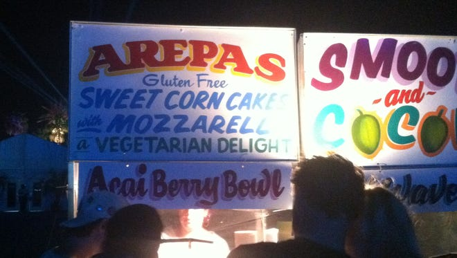What are arepas? Delicious. That's what. Arepas are an inexpensive must-try at Coachella.