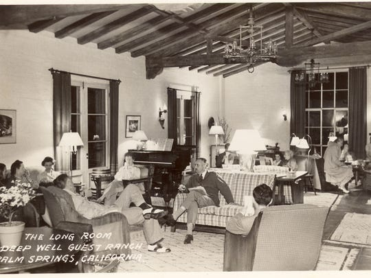 The long room at Deep Well Guest Ranch, as pictured around 1957.