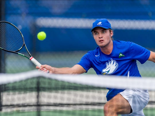 Junior Oliver Landert, a Naples native who had a big first season with the Eagles last year and followed that with a big fall, could climb to No. 2 this season.