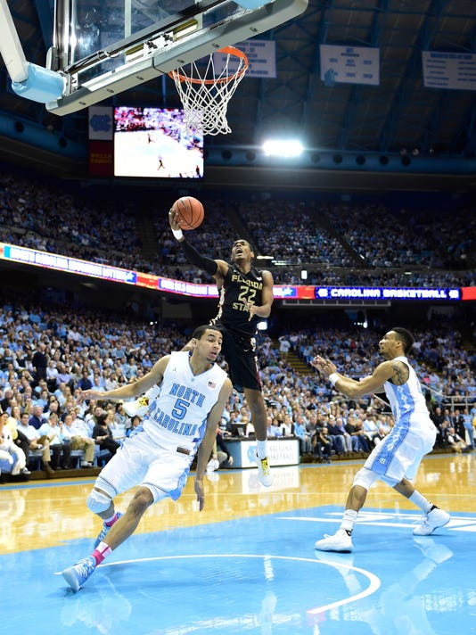 NCAA Basketball: Florida State at North Carolina