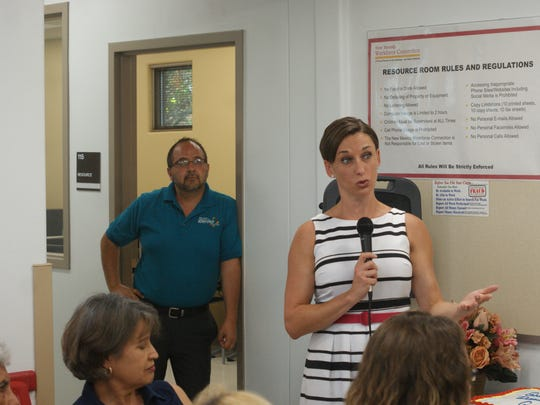 New Mexico Workforce Solutions Secretary Celina Bussey visited Deming for the grand opening of its newly renovated Workforce Solutions office in August.
