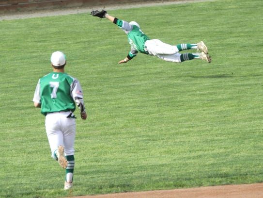 Clear Fork's Thomas Staab makes a catch in the out